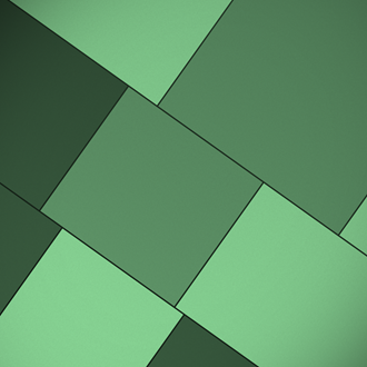 Green Shapes iPad wallpaper