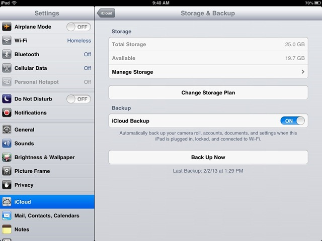 Ipad Icloud Storage And Backup