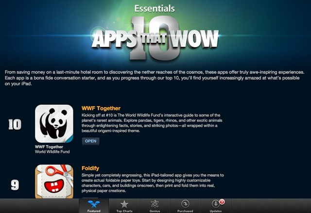 iPad App Store Features: 10 Apps that Wow