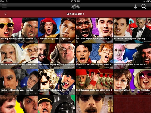 Notable New iPad Apps: Epic Rap Battles for iPad