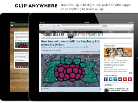 Notable New iPad Apps: EverClip for iPad