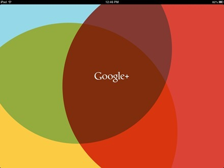 Google Plus iPad app splash screen