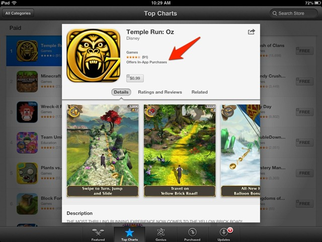 iPad App Store Now Shows Warning for Apps with In-App Purchases