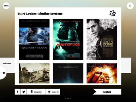 Spideo Instant Movie Discovery iPad app
