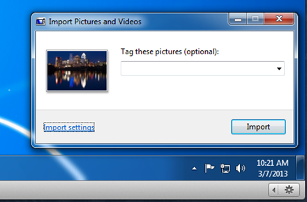 Windows Pictures and Videos Import