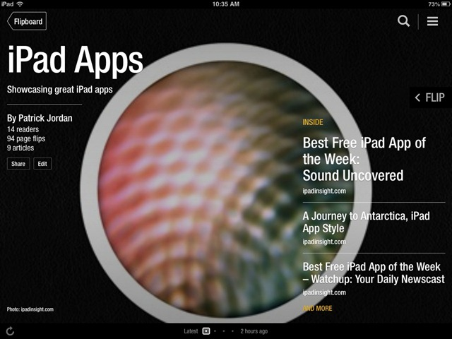 Flipboard Magazines – A Couple New iPad Titles