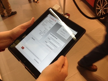 iPad Tesla point of sale