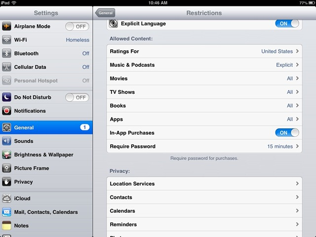 How To Turn Off In App Purchases on the iPad / iOS | iPad Insight