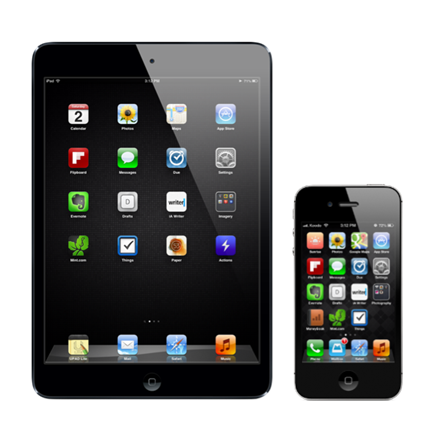 iPad and iPhone Home Screens