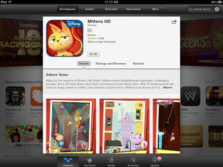 Age Ratings in iPad App Store