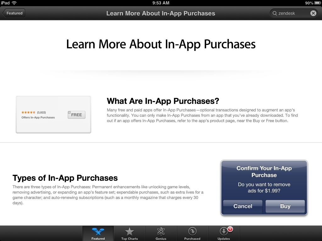 App Store Learn More About In App Puchases
