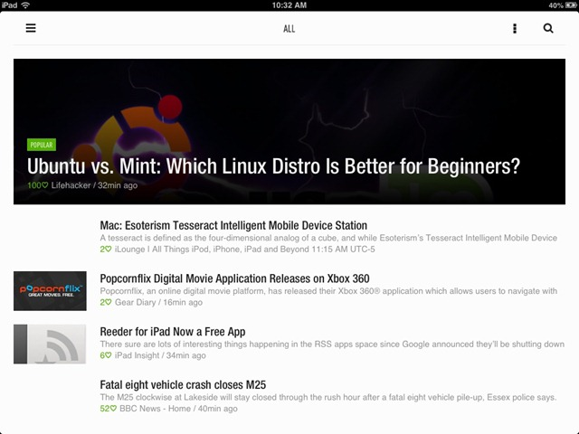 Feedly RSS Reader App for iPad Gets a Big Update