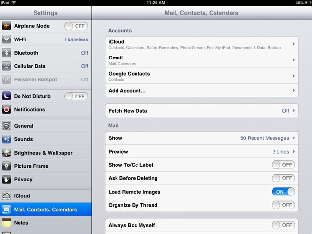 How To Setup Google Contact Sync On The IPad