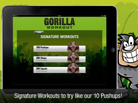 Price Drops: Gorilla Workout for iPad Free for 24 Hours