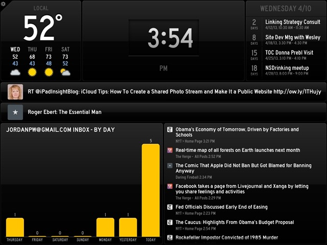 Notable New iPad Apps: Status Board