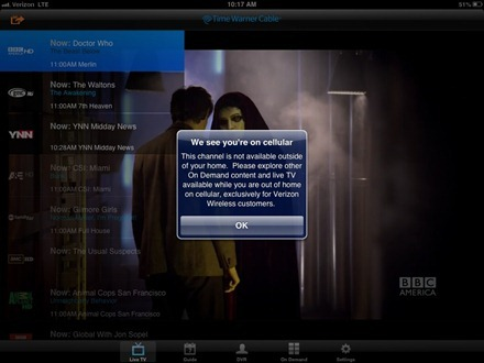 TWC TV iPad app