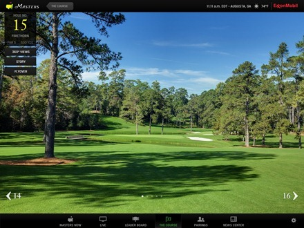 The Masters app The Course
