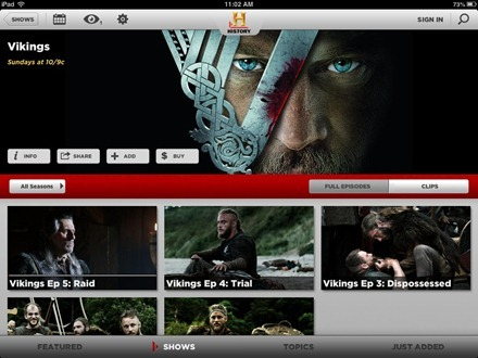 Vikings show page