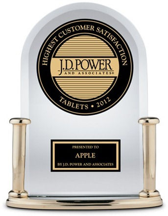iPad Customer Satisfaction Aawrds