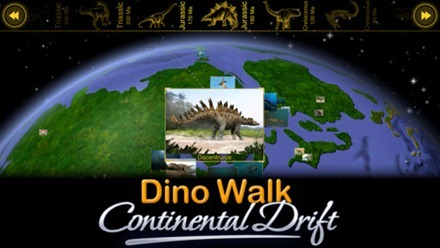 Dino Walk Continental Drift iPad app