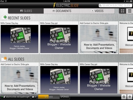 Electric Slide iPad app