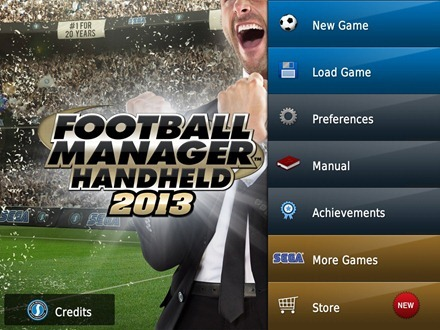 Football Manager Handheld 2013 iPad game