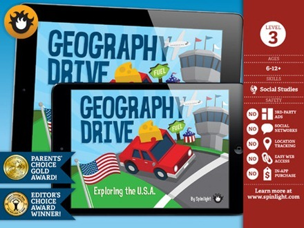 Geography Drive USA iPad app