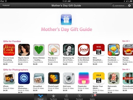 Mothers Day Gift Guide App Store section
