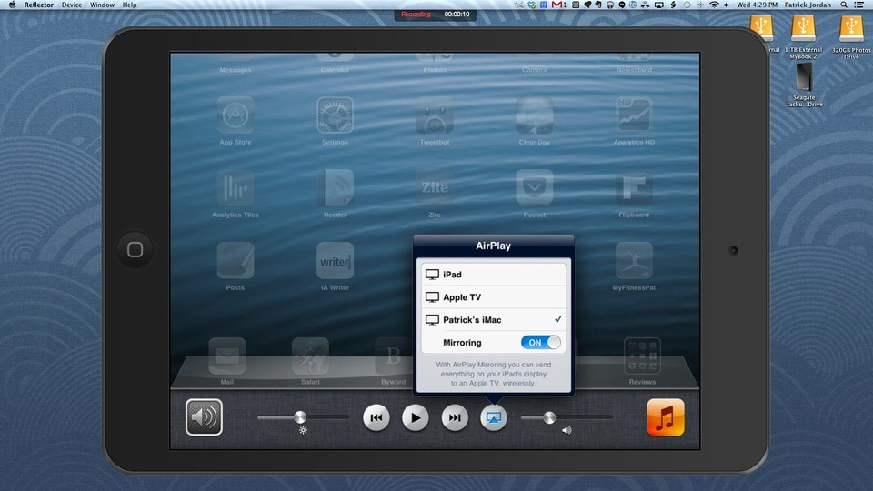 How to Record AirPlay Mirroring Sessions with the Reflector App