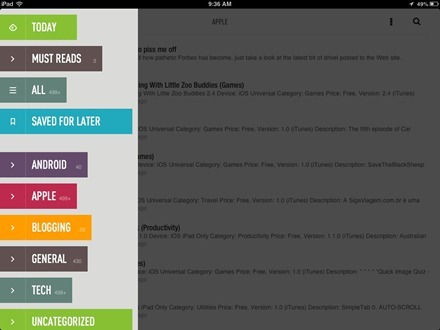 Feedly iPad app