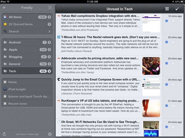 Mr. Reader for iPad Updated: Another Good Google Reader Replacement
