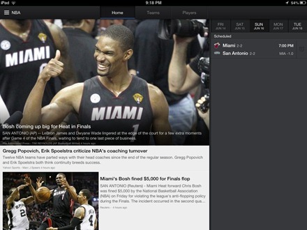 Yahoo Sports iPad app