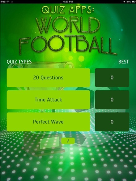 Quiz Apps World Football iPad app