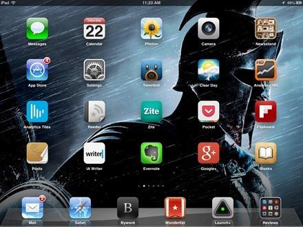 Warrior iPad home screen