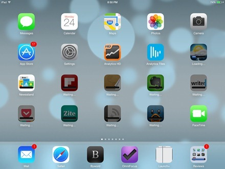 iOS 7 on iPad