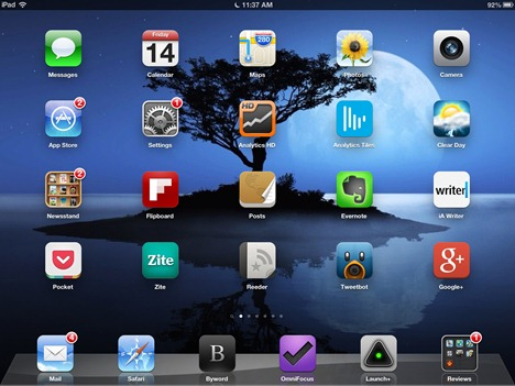 iPad 3 home screen