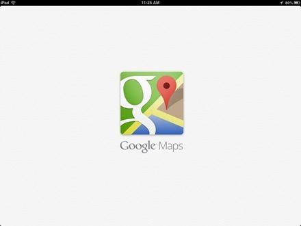 Google Maps iPad app