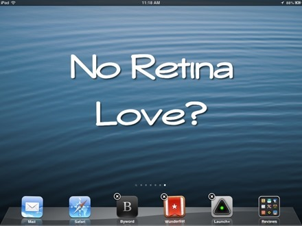 No Retina Love for iPad mini