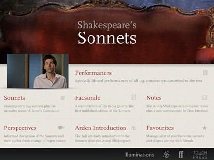 The-Sonnets-by-William-Shakespeare-iPad-app