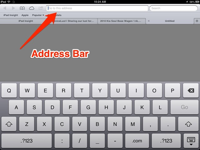 iPad Basics: What to Do When the Space Bar is Missing in Safari