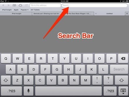 iPad Safari Search Bar