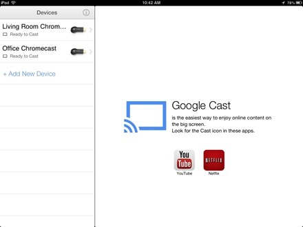 Chromecast for iPad