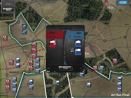 Drive on Moscow battle screen