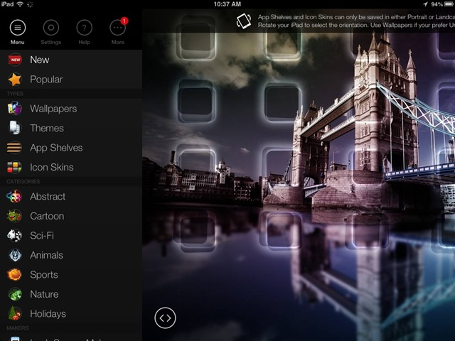 Pimp Your Screen iPad Wallpapers App – Updated with New Design