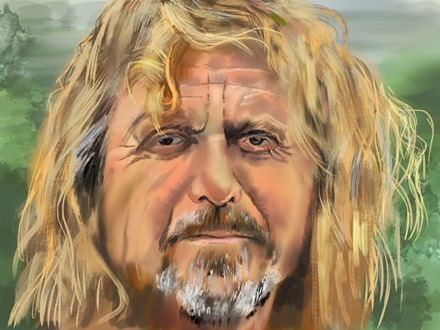 Robert Plant iPad painting