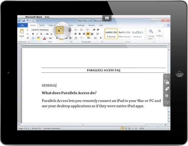 Parallels Access: Run Mac and Windows Apps Like They Were