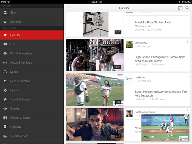 YouTube 2.0 for iOS: Watch a Video While Searching