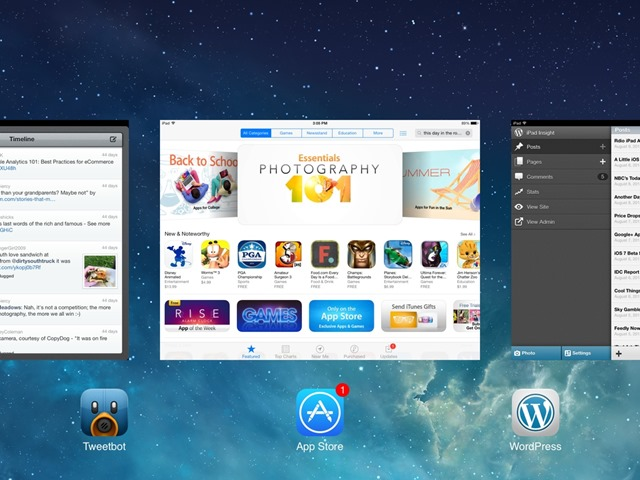 iOS 7 Multitasking Bar – Quit Multiple Apps at Once