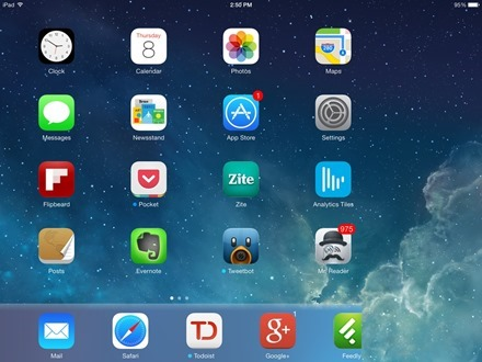 iPad iOS 7 chopped off screen