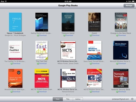 Google Play Books iPad app